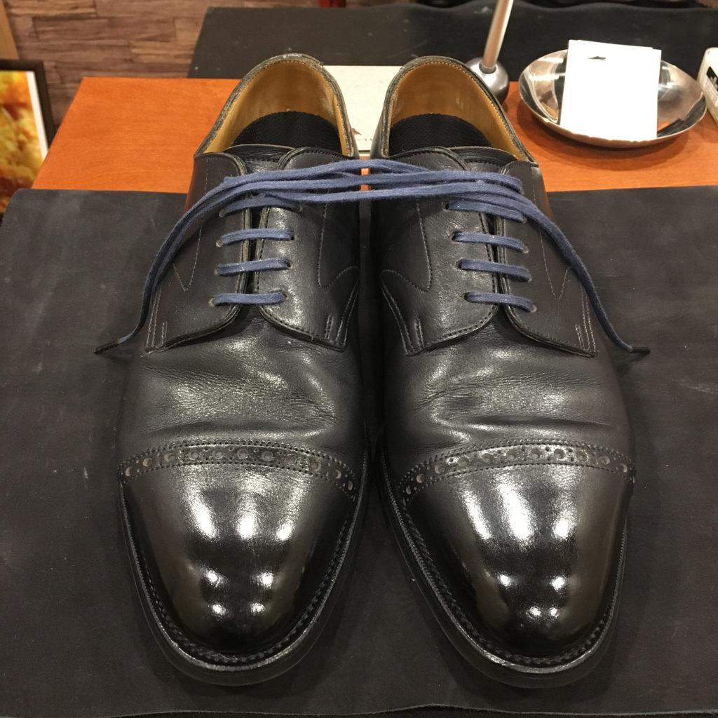 エドワードグリーン靴磨き