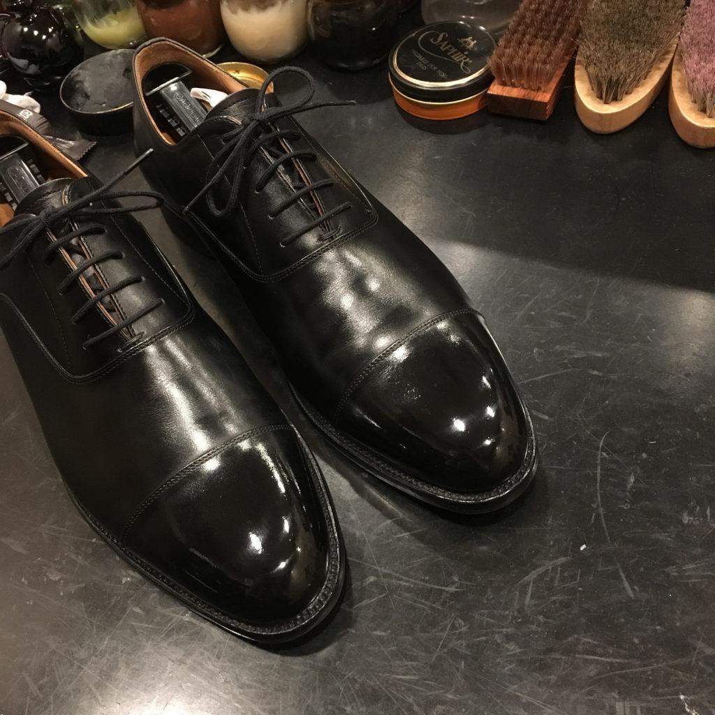 靴修理スコッチグレイン キズ補修
