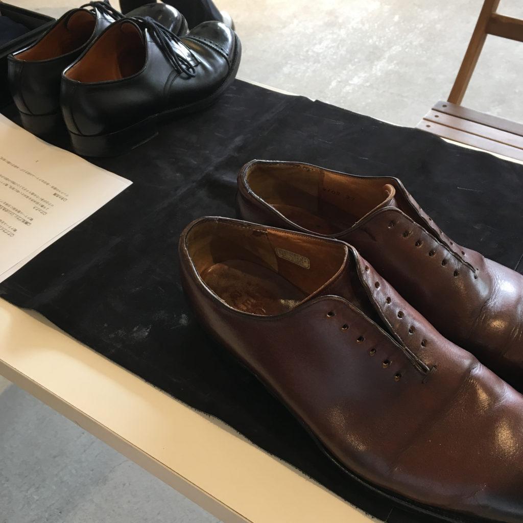 クラシティ半田にて靴磨き