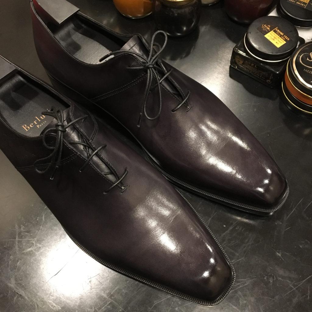 ベルルッティの靴磨き
