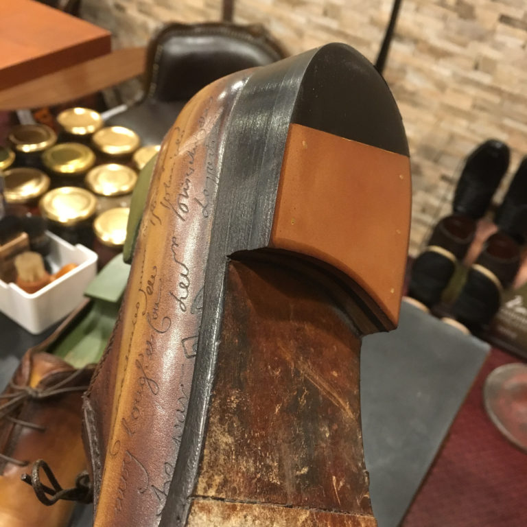 靴修理紳士ヒールレザー