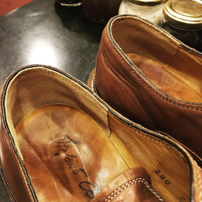 靴修理すべり革(ライニング)補修