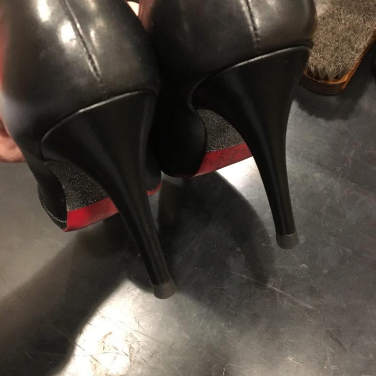 靴修理ヒール巻革