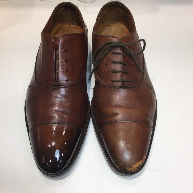 靴磨き全体カラーリング