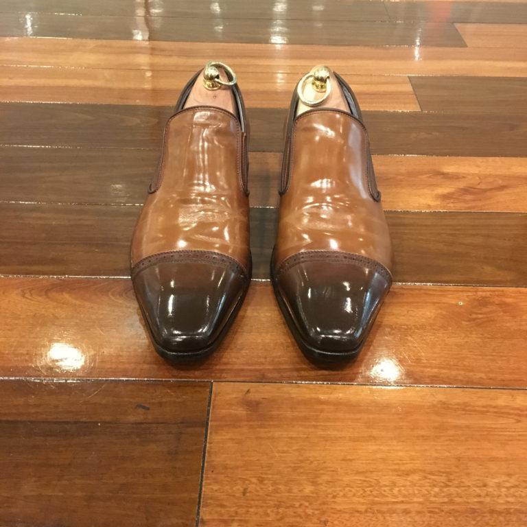靴磨き色補修黒・濃茶1箇所