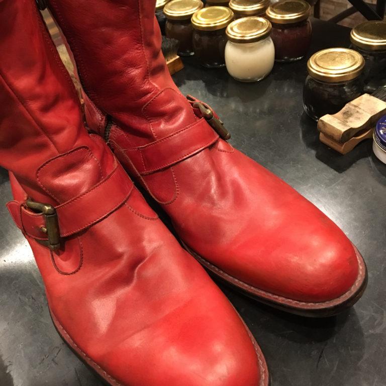靴磨き色補修その他色1箇所