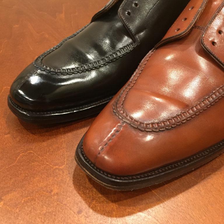 靴磨き染め替え