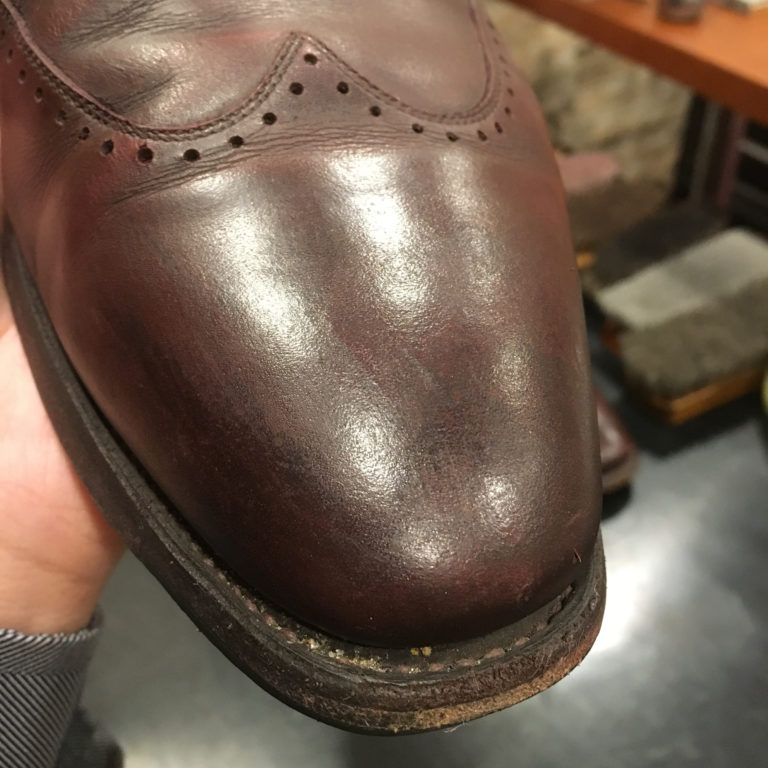 靴磨きクレーター除去1箇所