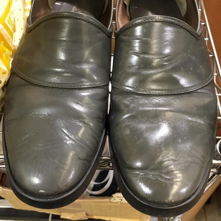 靴磨きカビ除去