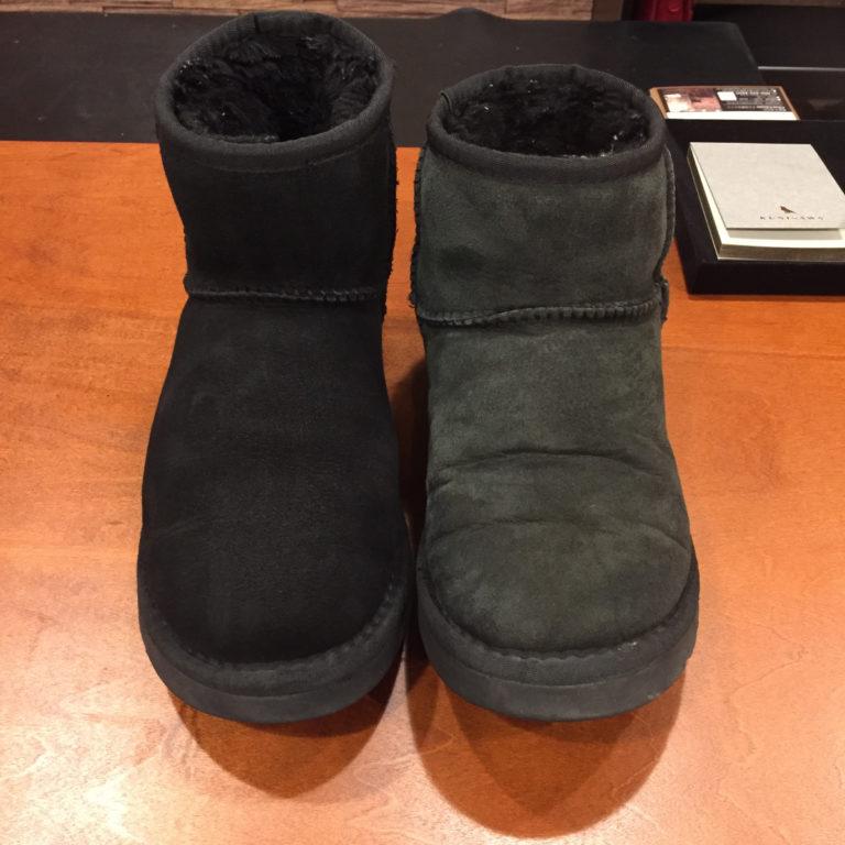 靴磨きスエードカラーリング黒・濃茶