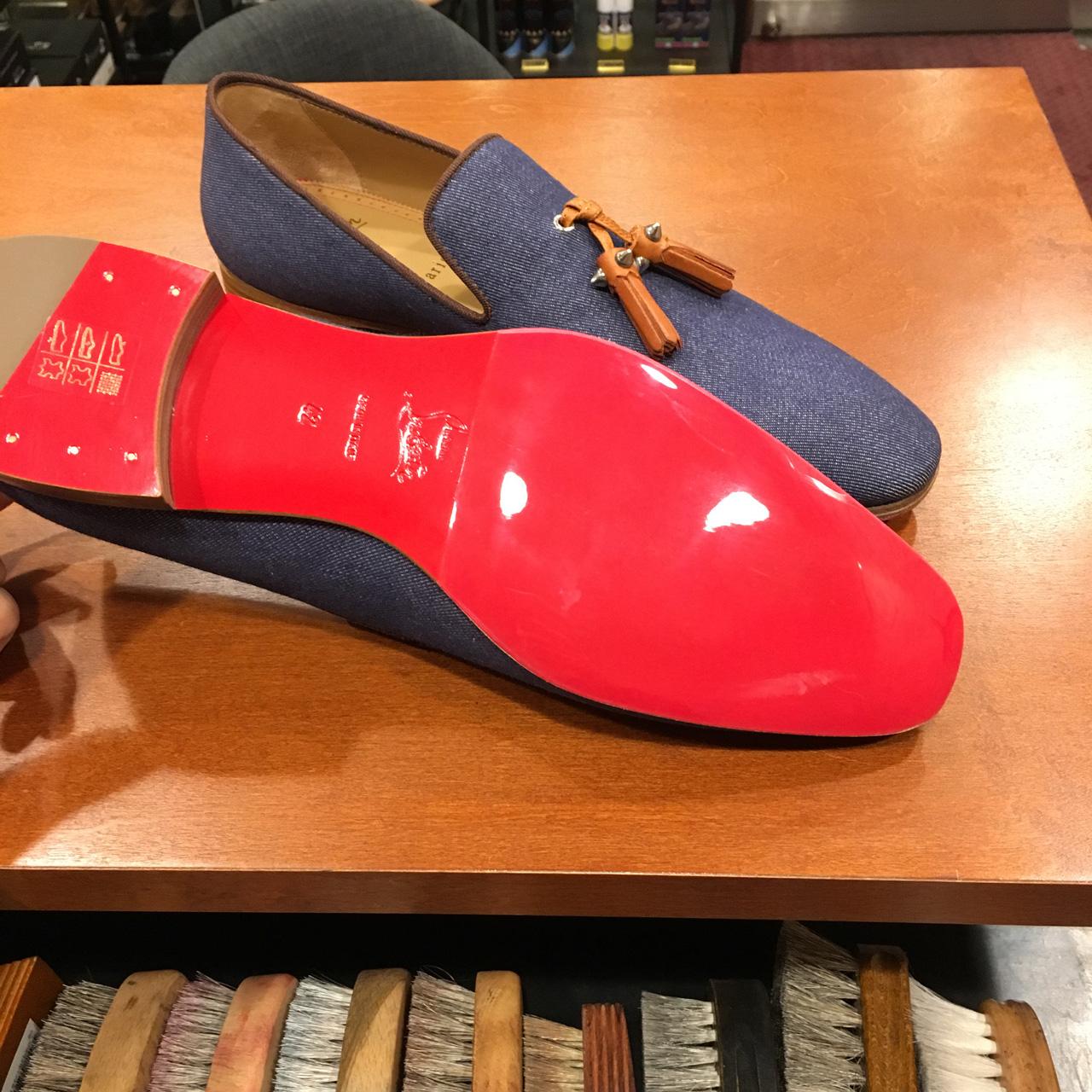クリスチャンルブタンの紳士靴を補強!