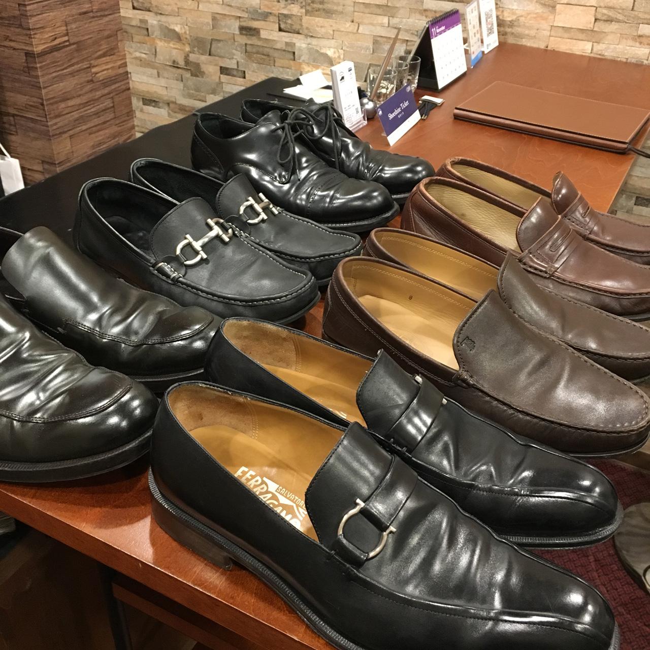 郵送靴磨きサービスも承ります