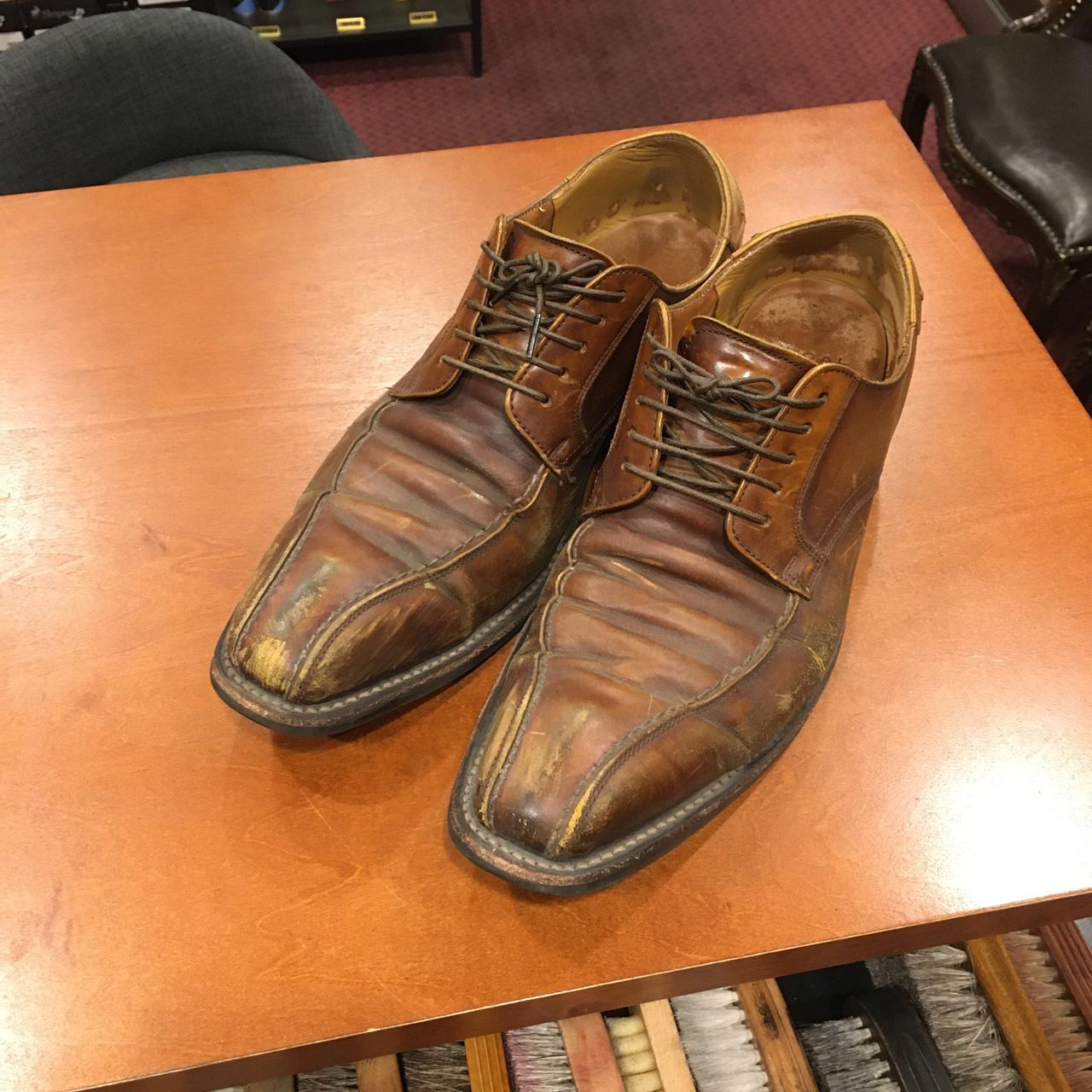 乾燥・擦れ・色抜けがあるリーガルの靴を復活させました