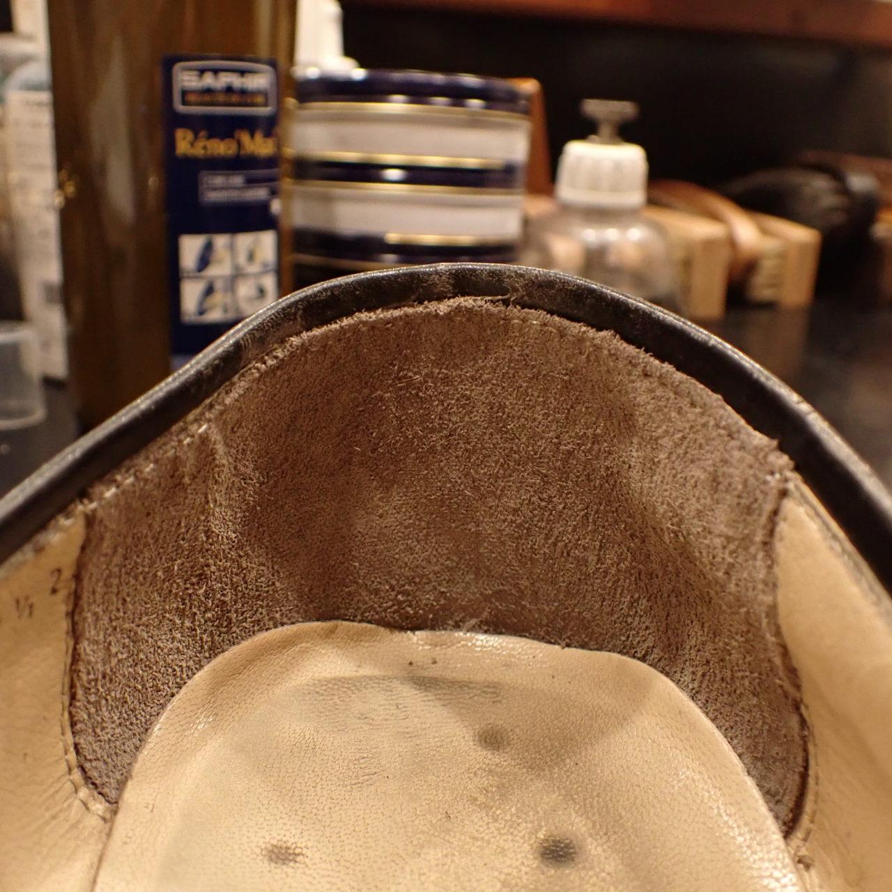 フェラガモの靴のかかと部分(ライニング)を修理しました
