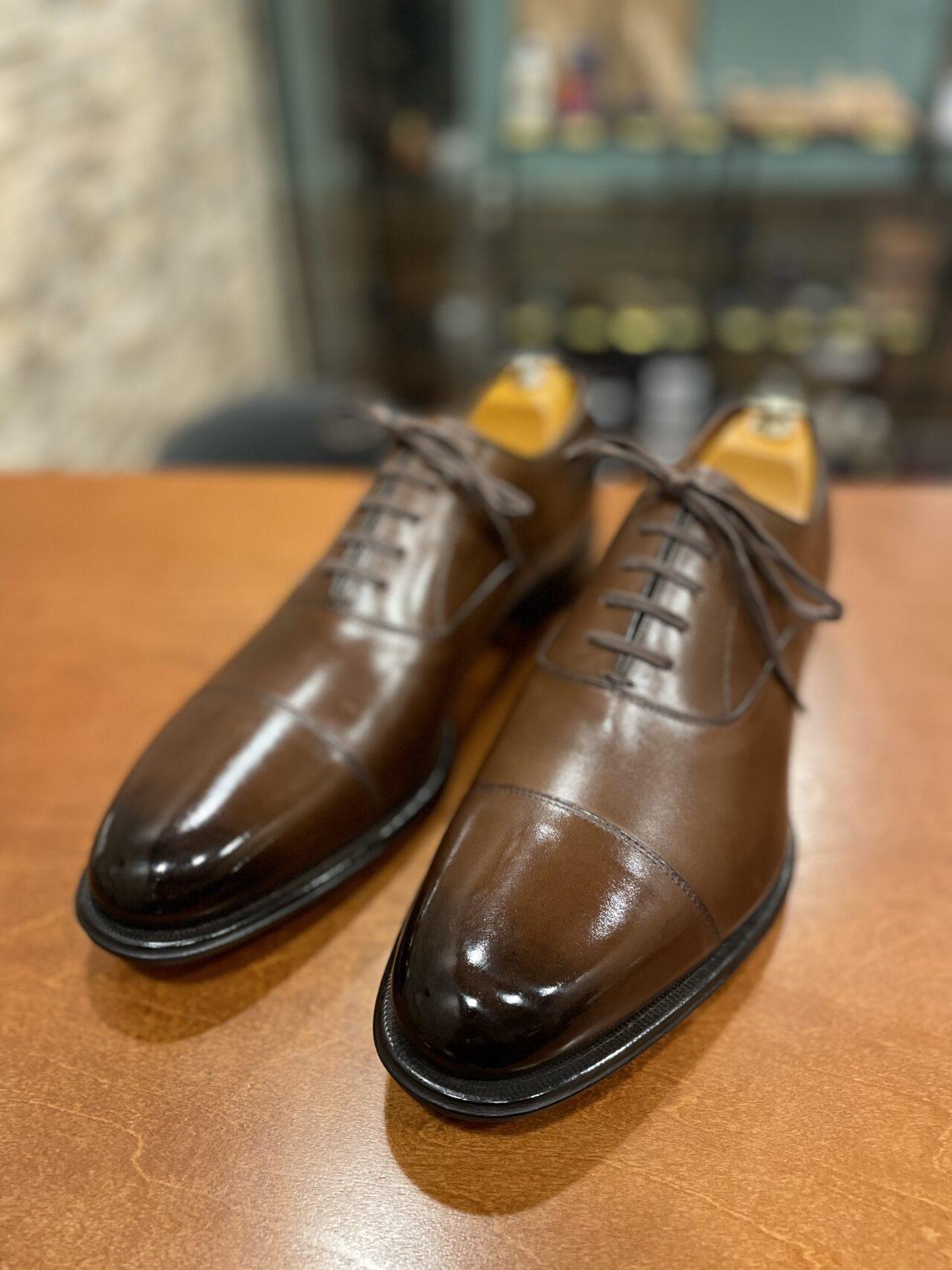 リーガルの靴をアンティーク磨きしました